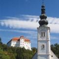 Lendavski grad in cerkev sv. Katarine • A lendvai vár és a Szt. Katalin Templom • Lendava's castle and the church of St. Catharine (in front)