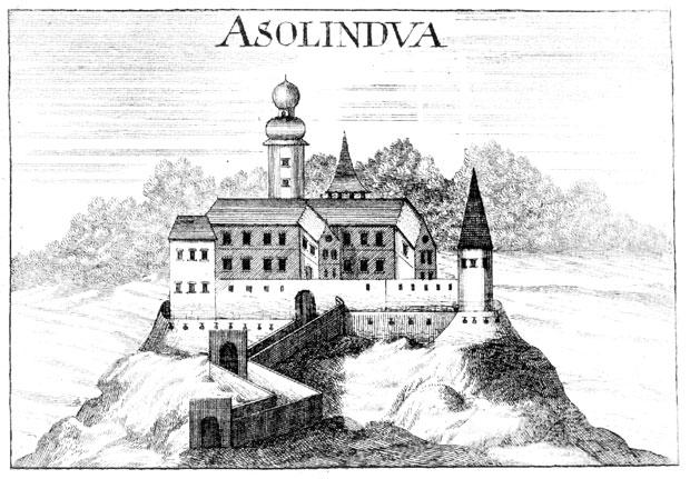 Grad Doljne Lendave v XVII. stoletju • Alsólendva vára egy XVII. sz. metszeten • Lendava's castle in the 17th century