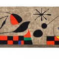 Joan Miró: 'MUR DE LA LUNE' (Lunin zid), 1957/58, barvna litografija, 35 x 82 cm, WVZ Maeght 1711