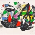Joan Miró: 'DOROTHEA TANNING', 1974, barvna litografija, 42 x 59 cm, WVZ Cramer L 929