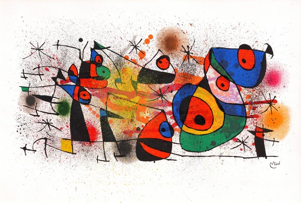 Joan Miró: 'CÉRAMIQUES' (Keramike), 1974, barvna litografija, 45 x 67 cm, WVZ Cramer 928
