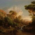 id. MARKÓ Károly/Károly MARKÓ starejši/the Elder (1793-1860): Tivoli, 1854, olje na platnu/olaj, vászon/oil on canvas, 75,5 x 102 cm