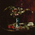 MUNKÁCSY Mihály (1844-1900): Tihožitje s cvetjem/Virágcsendélet/Still Life with Flowers, 1877-78, olje na platnu/olaj, vászon/Öl auf Leinwand/oil on canvas, 76,5 x 62,5 cm