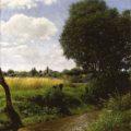 SZINYEI MERSE Pál (1845-1920): Brežina potoka/Patakpart/Brookside, 1897, olje na platnu/olaj, vászon/Öl auf Leinwand/oil on canvas, 90 x 80 cm